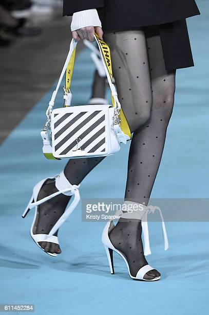 A model walks the runway during the OffWhite show as part of Paris Fashion Week Womenswear Spring/Summer 2017 on September 29 2016 in Paris France