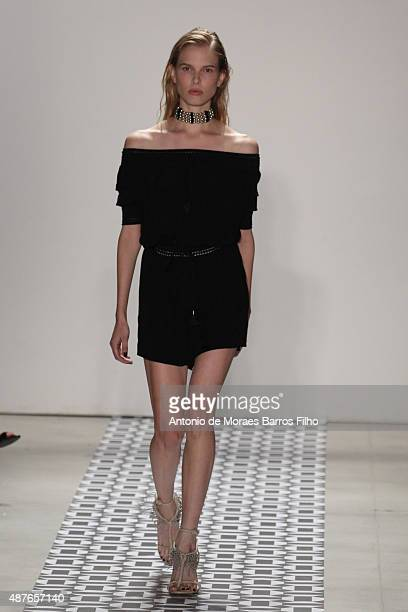 A model walks the runway during the Ohne Titel show as a part of Spring 2016 New York Fashion Week at The Gallery Skylight at Clarkson Sq on...