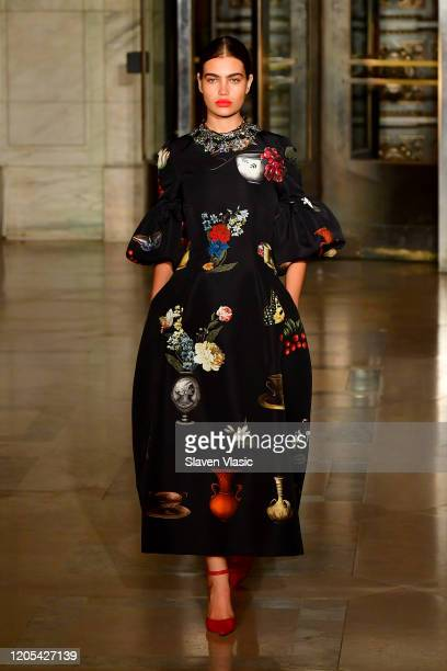 Model walks the runway during the Oscar De La Renta Show - February 2020 New York Fashion Week: The Shows at The New York Public Library on February...