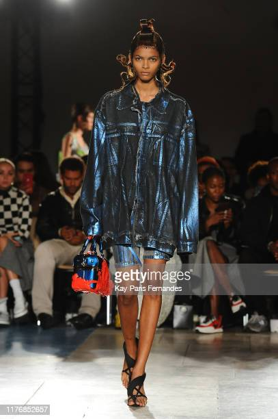 Model walks the runway during the Ottolinger Womenswear Spring/Summer 2020 show as part of Paris Fashion Week on September 24, 2019 in Paris, France.