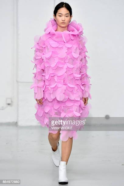 A model walks the runway during the Paskal Ready to Wear Spring/Summer 2018 fashion show as part of the Paris Fashion Week Womenswear Spring/Summer...