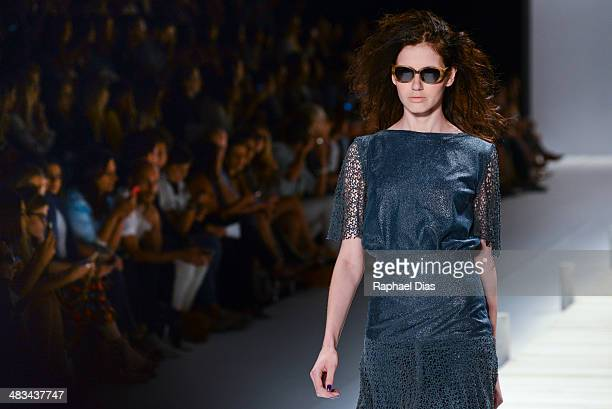 A model walks the runway during the Patricia Vieira show at Fashion Rio Summer 2014/2015 at Marina da Gloria on April 8 2014 in Rio de Janeiro Brazil