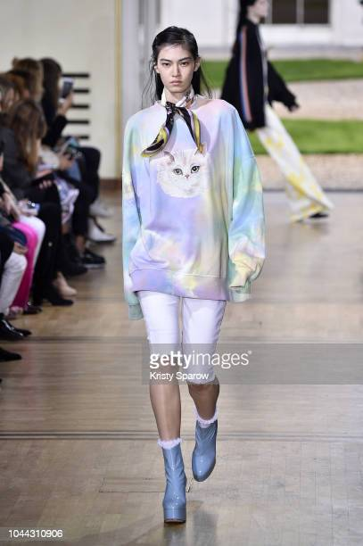 d99fb98e A model walks the runway during the Paul Joe show as part of Paris Fashion  Week