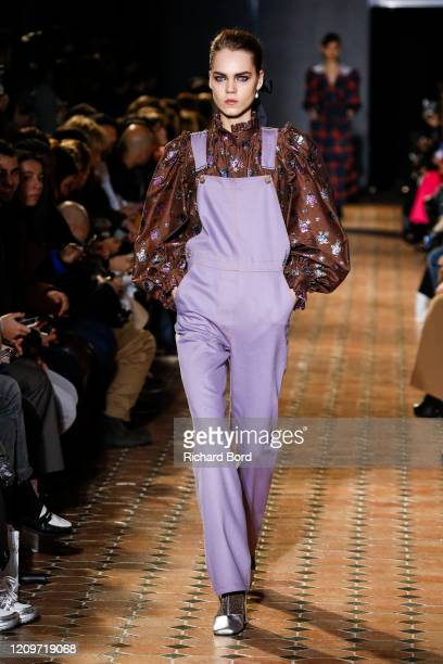 Model walks the runway during the Paul & Joe show as part of the Paris Fashion Week Womenswear Fall/Winter 2020/2021 at Lycee Henry IV on March 01,...