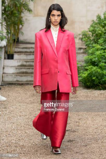 Model walks the runway during the Paul & Joe Womenswear Spring/Summer 2020 show as part of Paris Fashion Week on September 29, 2019 in Paris, France.