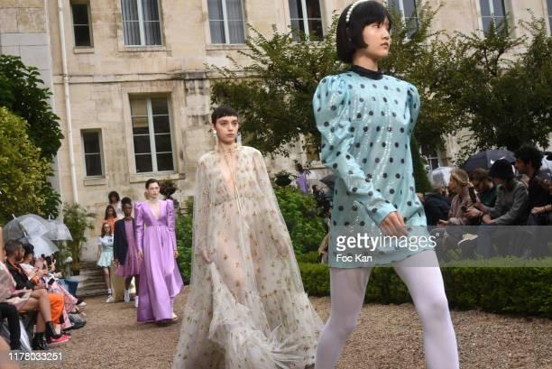 Model walks the runway during the Paul & Joe Womenswear Spring/Summer 2020 show as part of Paris Fashion Week on September 29, 2019 in Paris, France.