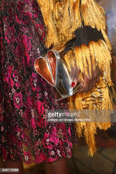 A model walks the runway during the Paul Ka show as part of the Paris Fashion Week Womenswear Fall/Winter 2017/2018 on February 28 2017 in Paris...