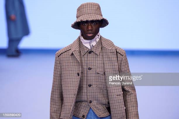Model walks the runway during the Paul Smith Menswear Fall/Winter 2020-2021 show as part of Paris Fashion Week on January 19, 2020 in Paris, France.