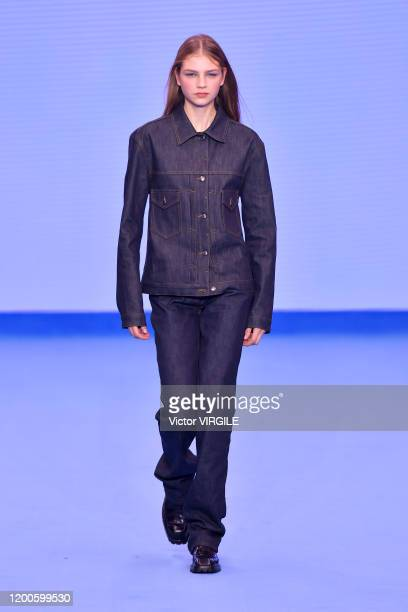 A model walks the runway during the Paul Smith Menswear Fall/Winter 20202021 show as part of Paris Fashion Week on January 19 2020 in Paris France