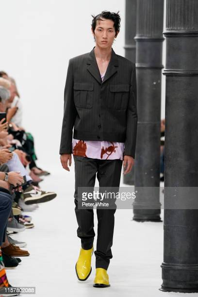 A model walks the runway during the Paul Smith Menswear Spring Summer 2020 show as part of Paris Fashion Week on June 23 2019 in Paris France