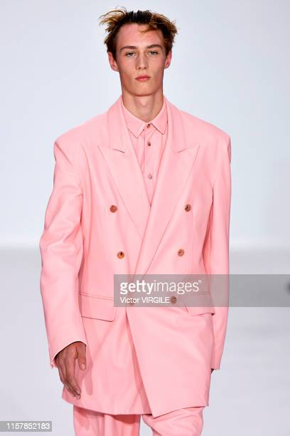 Model walks the runway during the Paul Smith Menswear Spring Summer 2020 fashion show as part of Paris Fashion Week on June 23, 2019 in Paris, France.