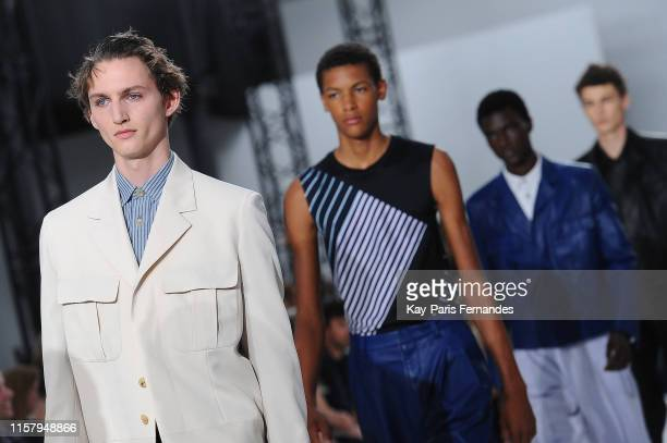 Model walks the runway during the Paul Smith Menswear Spring Summer 2020 show as part of Paris Fashion Week on June 23, 2019 in Paris, France.