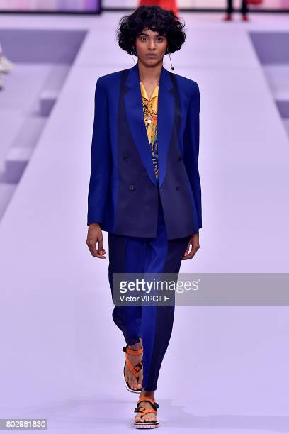 A model walks the runway during the Paul Smith Menswear Spring/Summer 2018 show as part of Paris Fashion Week on June 25 2017 in Paris France