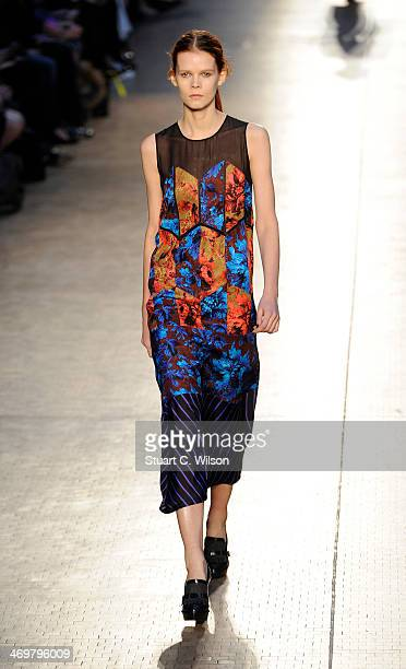 A model walks the runway during the Paul Smith show at London Fashion Week AW14 on February 16 2014 in London England
