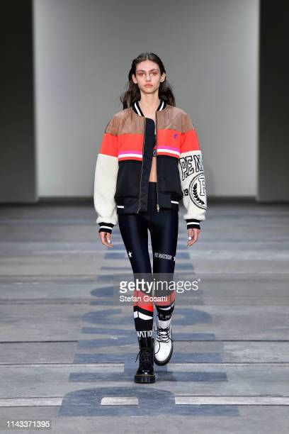 A model walks the runway during the PE Nation show at MercedesBenz Fashion Week Resort 20 Collections at Carriageworks on May 13 2019 in Sydney...