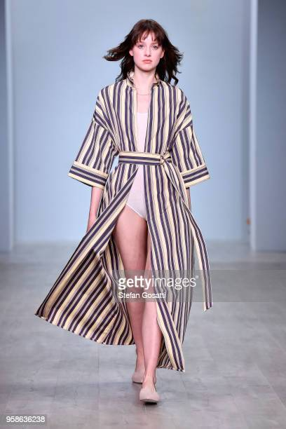 A model walks the runway during the Pereira Fitzgerald show at MercedesBenz Fashion Week Resort 19 Collections at Carriageworks on May 15 2018 in...