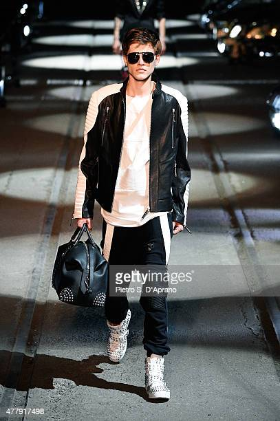 A model walks the runway during the Philipp Plein fashion show as part of Milan Men's Fashion Week Spring/Summer 2016 on June 20 2015 in Milan Italy