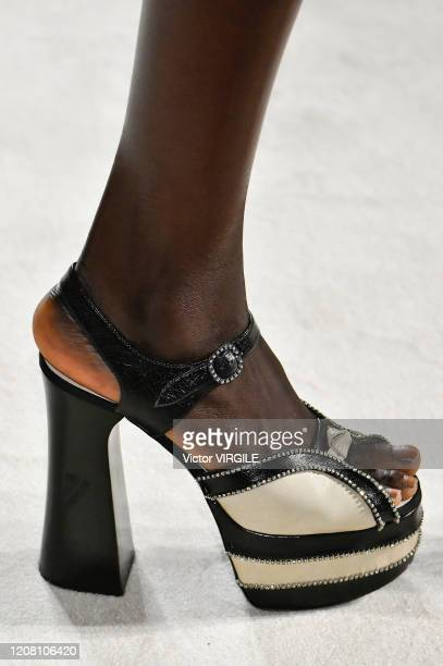 A model walks the runway during the Philosophy fashion show as part of Milan Fashion Week Fall/Winter 20202021 on February 22 2020 in Milan Italy