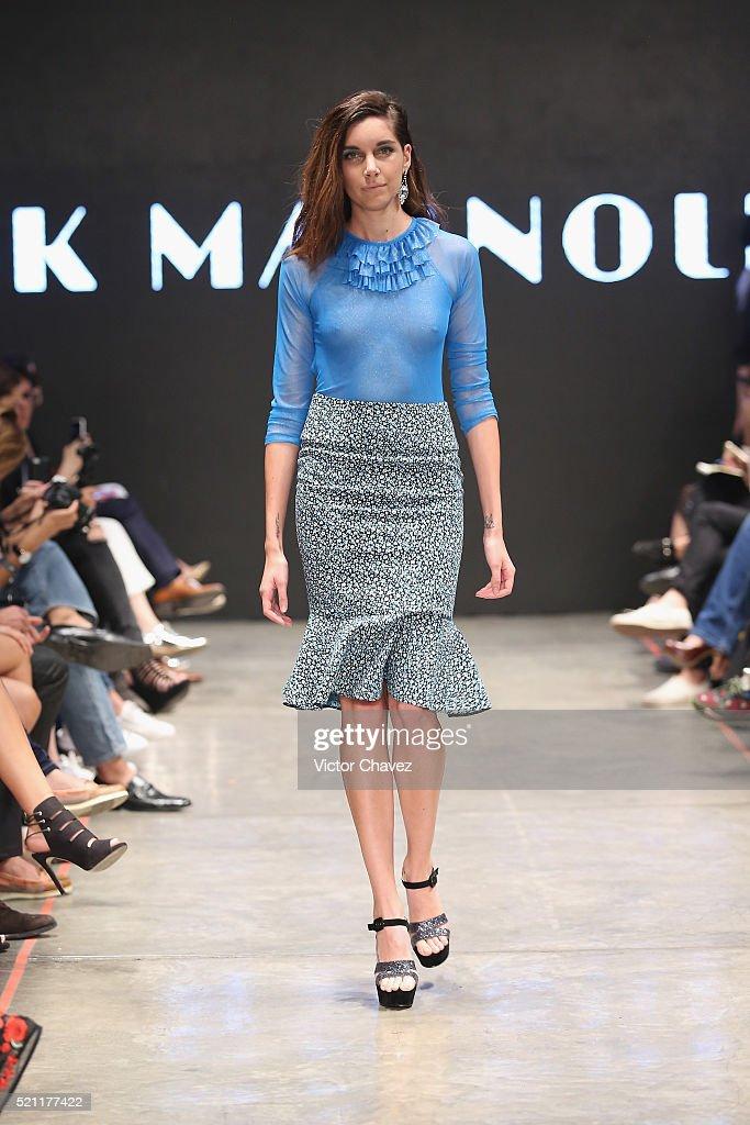Pink Magnolia - Mercedes-Benz Fashion Week Mexico Fall/Winter 2016 : ニュース写真
