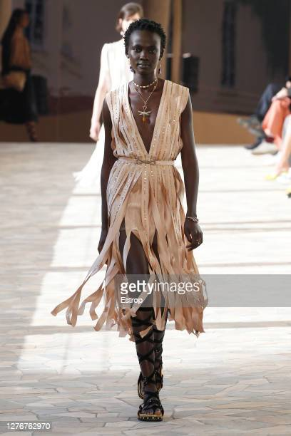 A model walks the runway during the Ports 1961 fashion show during Milan Women's Fashion Week Spring/Summer 2021 on September 25 2020 in Milano Italy
