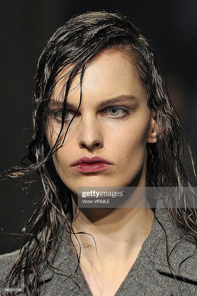 A model walks the runway during the Prada Ready to Wear Fall/Winter 2013-2014 show as part of the Milan Fashion Week Womenswear Fall/Winter 2013/14 on February 21, 2013 in Milan, Italy.