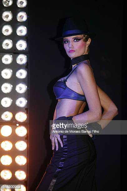 A model walks the runway during the presentation of the new Passionata Fall/Winter 2009 Collection at Hotel de la Monnaie on February 10 2009 in...