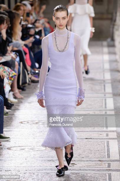 Model walks the runway during the Proenza Schouler Haute Couture Fall/Winter 2017-2018 show as part of Haute Couture Paris Fashion Week on July 2,...