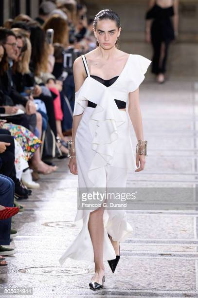 A model walks the runway during the Proenza Schouler Haute Couture Fall/Winter 20172018 show as part of Haute Couture Paris Fashion Week on July 2...