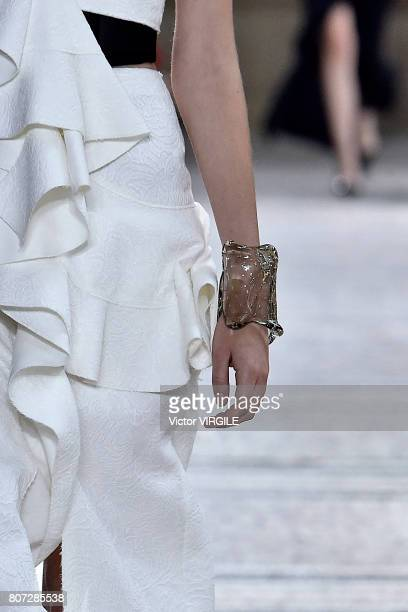 Model walks the runway during the Proenza Schouler Ready to Wear Spring/Summer 2018 show as part of Haute Couture Paris Fashion Week on July 2, 2017...