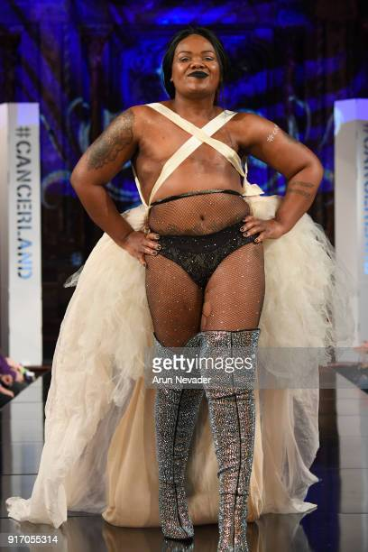 A model walks the runway during the Project Cancerland featuring AnaOno Initmates presentation during New York Fashion Week Powered by Art Hearts...