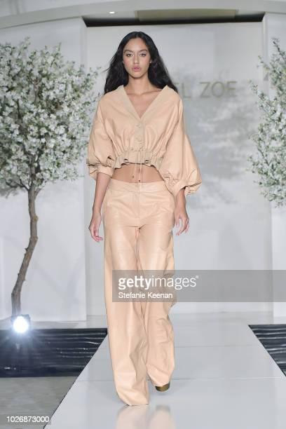 Model walks the runway during the Rachel Zoe Spring 2019 LA Presentation at Hotel Bel-Air on September 4, 2018 in Los Angeles, California.