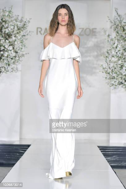 A model walks the runway during the Rachel Zoe Spring 2019 LA Presentation at Hotel BelAir on September 4 2018 in Los Angeles California