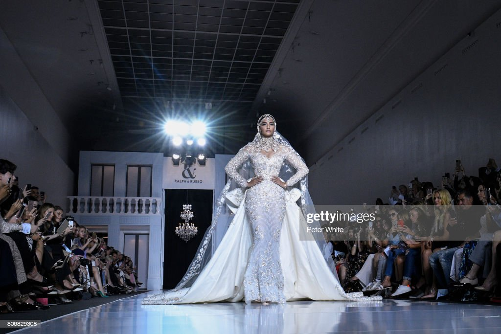 A model walks the runway during the Ralph & Russo Haute Couture Fall/Winter 2017-2018 show as part of Haute Couture Paris Fashion Week on July 3, 2017 in Paris, France.