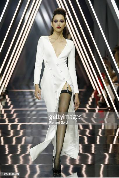 A model walks the runway during the Ralph Russo Haute Couture Fall Winter 2018/2019 show as part of Paris Fashion Week on July 2 2018 in Paris France