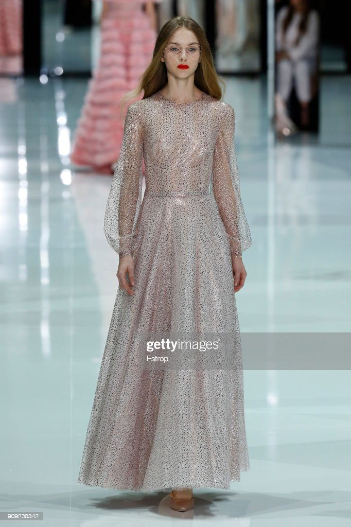 model-walks-the-runway-during-the-ralph-russo-spring-summer-2018-show-picture-id909230342