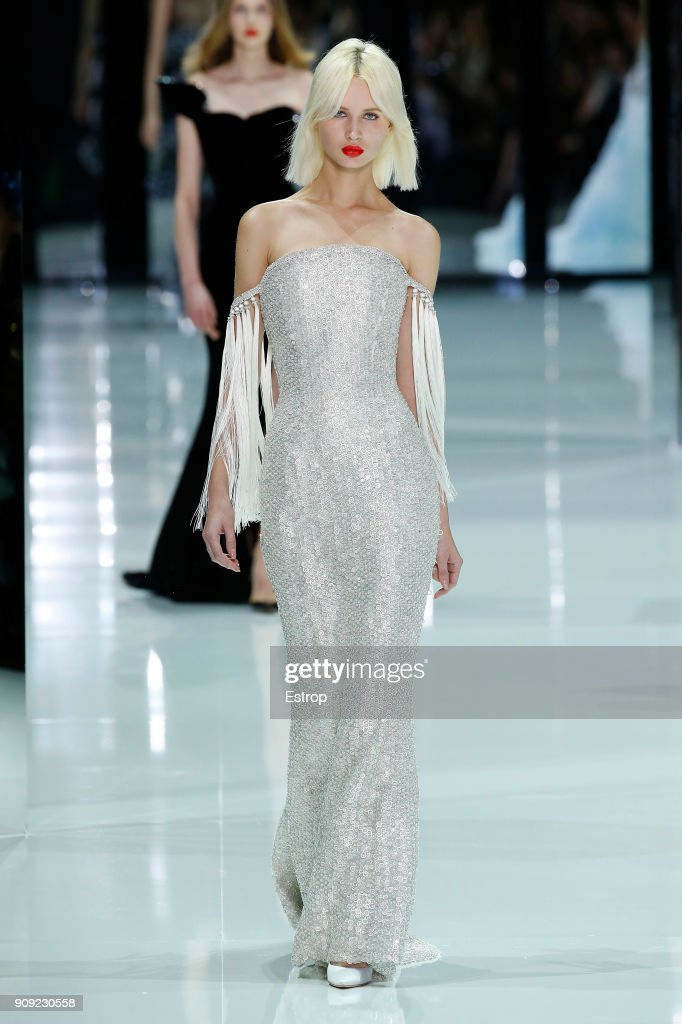 model-walks-the-runway-during-the-ralph-russo-spring-summer-2018-show-picture-id909230558