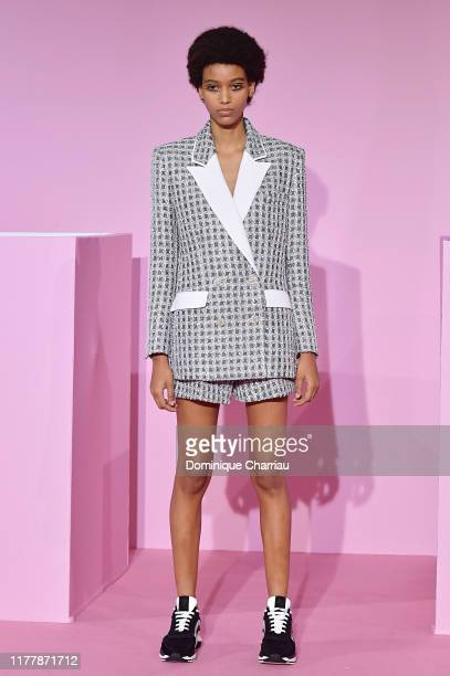 A model walks the runway during the Ralph Russo Womenswear Spring/Summer 2020 show as part of Paris Fashion Week at le Centorial on September 29 2019...