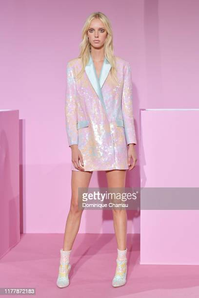 Model walks the runway during the Ralph & Russo Womenswear Spring/Summer 2020 show as part of Paris Fashion Week at le Centorial on September 29,...