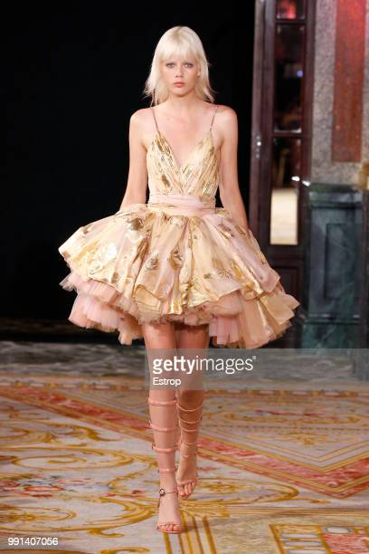 A model walks the runway during the Redemption Haute Couture Fall Winter 2018/2019 show as part of Paris Fashion Week on July 2 2018 in Paris France