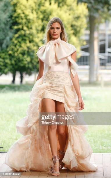 Model walks the runway during the Redemption Haute Couture Fall/Winter 2019 2020 show as part of Paris Fashion Week on June 30, 2019 in Paris, France.