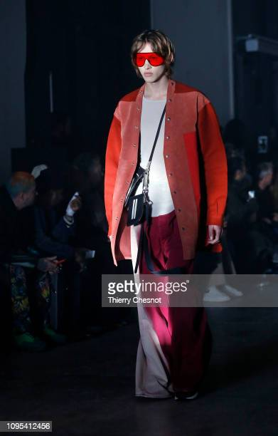 A model walks the runway during the Rick Owens Menswear Fall/Winter 20192020 show as part of Paris Fashion Week on January 17 2019 in Paris France
