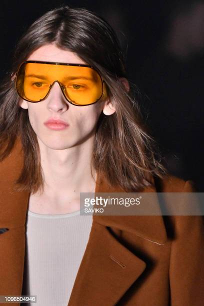 A model walks the runway during the Rick Owens Menswear Fall/Winter 20192020 fashion show as part of Paris Fashion Week on January 17 2019 in Paris...