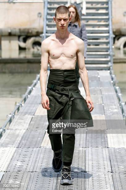 A model walks the runway during the Rick Owens Menswear Spring/Summer 2018 show as part of Paris Fashion Week on June 22 2017 in Paris France