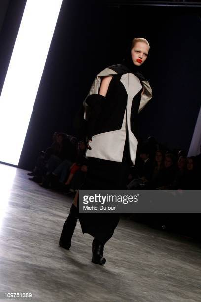 A model walks the runway during the Rick Owens Ready to Wear Autumn/Winter 2011/2012 show during Paris Fashion Week at Palais De Tokyo on March 3...