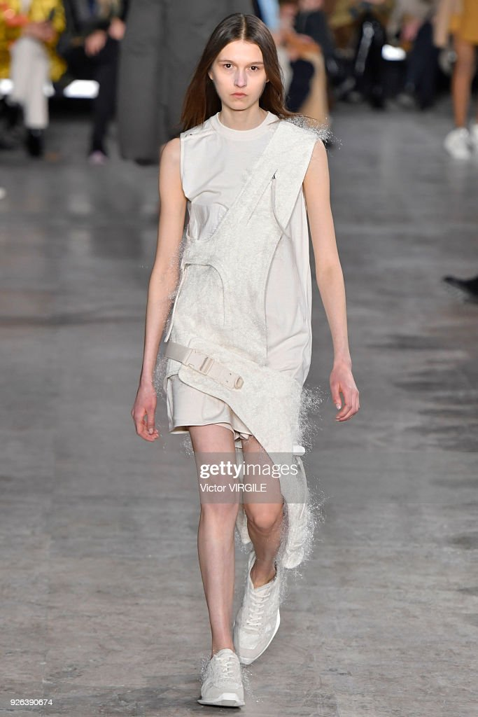 A model walks the runway during the Rick Owens Ready to Wear Fall/Winter fashion show as part of the Paris Fashion Week Womenswear Fall/Winter 2018/2019 on March 1, 2018 in Paris, France.
