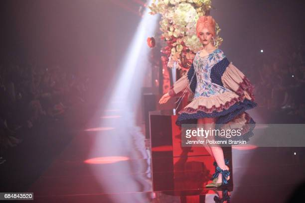 A model walks the runway during the Romance Was Born show at MercedesBenz Fashion Week Resort 18 Collections at Carriageworks on May 18 2017 in...