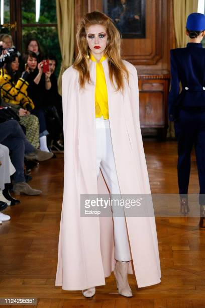A model walks the runway during the RVDK Ronald Van Der Kemp Spring Summer 2019 show as part of Paris Fashion Week on January 23 2019 in Paris France