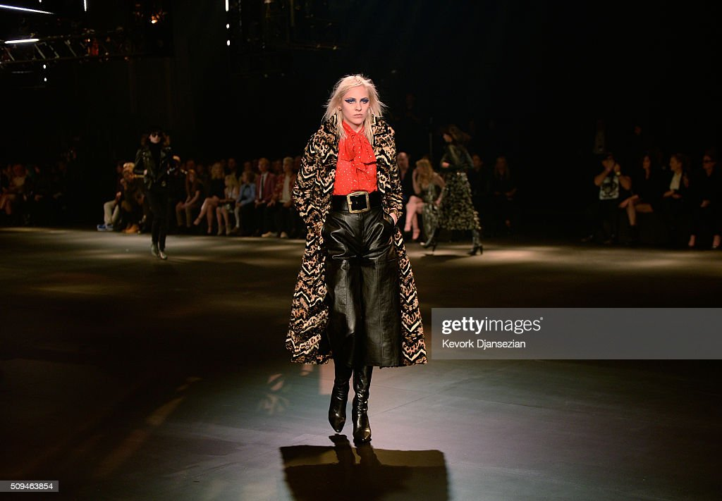 SAINT LAURENT At The Palladium - Runway : News Photo