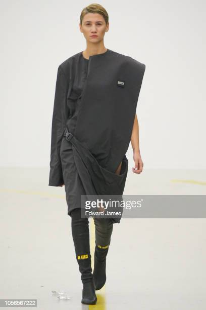 A model walks the runway during the Salome Tkabladze Spring/Summer 2019 Collection fashion show at MercedesBenz Fashion Week Tbilisi on November 2...