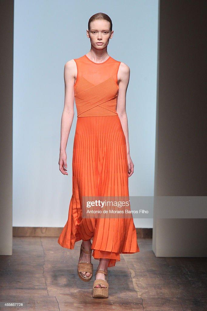 Salvatore Ferragamo - Runway - Milan Fashion Week Womenswear Spring/Summer 2015 : News Photo